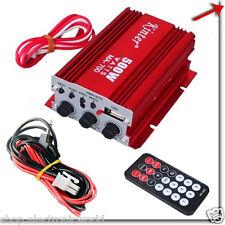AMPLIFICATORE AUDIO 12V USB MP3 CASA AUTO 2 CANALI STEREO 500W HIFI TELECOMANDO