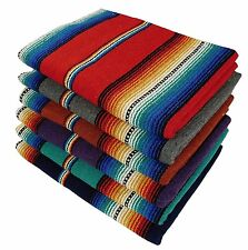 #776 Mexican Heavy Serape Saltillo Falsa Blanket Authentic Original Red Bright