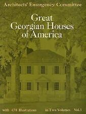 Great Georgian Houses of America 1970 Architecture 478 Plans Photos Drawings V1