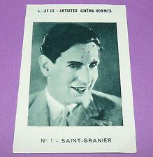 RARE CHROMO PHOTO 1933 JOSEPH-MILLIAT ACTEURS CINEMA SAINT-GRANIER