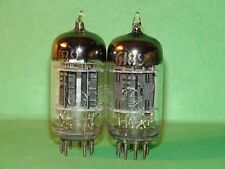 Matched Pair GE GL 6189 12AU7 WA Vacuum Tubes Very Strong
