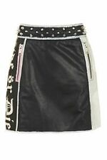 Topshop Painted Leather Mini Skirt size   14/42 RRP £110