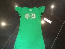 NWT Juicy Couture New & Gen. Girls Age 8 Soft Cotton Green Dress With Juicy Logo