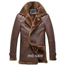 Custom Tailor Made All Size Blazer Pea Coat 100% Nappa Leather Jacket NR Fur