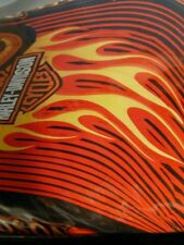 "Harley Davidson Motorcycle Flame Rider Fireball Cotton 63"" x 86"" Twin Comforter"