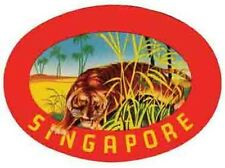 SINGAPORE    Vintage 1950's-Style   Travel Decal/Sticker/Label