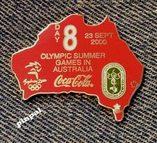 2000 Sydney Olympic Coca Cola Pin of the Day 8~Coke~Silver Set~Australia Cutout