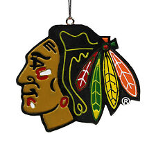 Chicago Blackhawks NHL Holiday Christmas Ornament Logo Forever Collectibles