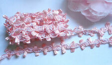 1/2 inch wide pink tapes braid lace trim selling by yard