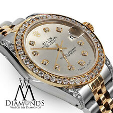 Rolex Ladies 78273 Datejust 2 Tone 31mm Silver Color Diamond Dial Watch