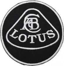 Lotus Logo Black & White Badge Embroidered Patch Sew / Iron-on 9cm