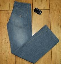 "Bnwt Women's Oakley Stretch Jeans Size UK 6 L32"" Loose Fit Statue Pant Blue"