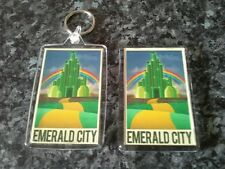 Emerald City Keyring and Magnet Set. Wizard of Oz. Yellow Brick Road