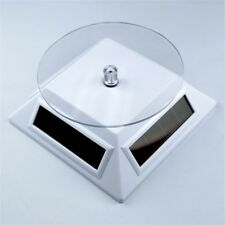 Solar Powered White Small Spinning Display Turntable