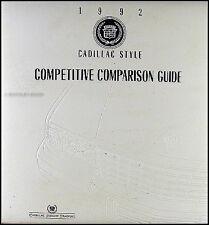 1992 Cadillac Competitive Comparsion Guide Allante Deville Eldorado Seville Etc.