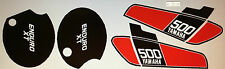 YAMAHA XT500 XT500C TT500C 1976 PAINTWORK DECAL SET