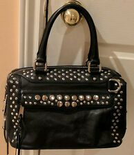 EUC Rebecca Minkoff Large Satchel/Bag. US $695. Black,silver studded & rare MAB