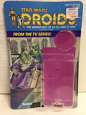 STAR WARS SISE FROMM DROIDS CARDBACK W ATTACHED BUBBLE RARE KENNER VINTAGE 1985
