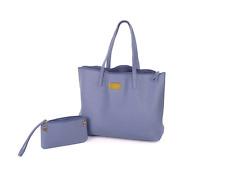BLUE Genuine Leather Purse JOY Tote & RFID Clutch Wallet Shoulder Handbag Bag