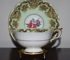 Paragon Mint Green Gold Gilt Double Warrant 2 Queens Cup and Saucer Set