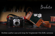 Brofeta leather case/bag and strap for Voigtlander VITO B/BL old film cameras