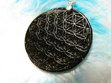 Orgonite / Orgone / Orgon pendant - Amulet - FLOWER OF LIFE - Shungites & Gold
