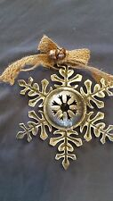 ORNAMENT metal rustic SILVER SNOWFLAKE * MORE ORNAMENTS IN OUR STORE