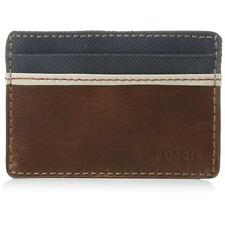 NEW FOSSIL ELGIN ID CARD CASE FRONT POCKET WALLET MEN'S BROWN LEATHER ML3311200