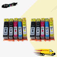 10PK Black&Color Ink Cartridge For HP 564XL 564 XL OfficeJet 4620 4622 Printer