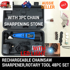 CORDLESS CHAINSAW CHAIN GRINDER SHARPENER ROTARY TOOL 48PC FOR STIHL HUSQVARNA