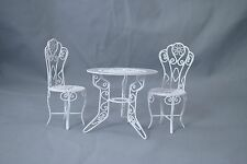 "Garden Table & Chairs Set  dollhouse miniature furniture 1/12"" scale EIWF404"