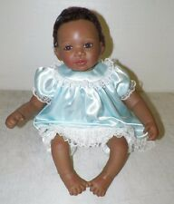 "ASHTON DRAKE SO TRULY REAL BABY DOLL BROWN HAIR BROWN EYES BY W HANL 20"" EUC"