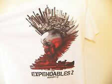 THE EXPENDABLES 2 T-Shirt XL White Movie Stallone Chuck Norris Van Damme Jet Li