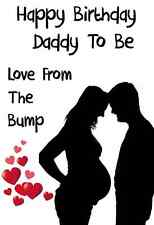A5 Personalised Greeting Birthday Daddy to be Card From The Bump PID306