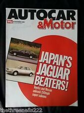 AUTOCAR - JAPAN'S JAGUAR BEATERS - NOV 30 1988