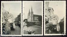 La Chapelle-Sur-Vire .Notre-dame sur Vire. Troisgots.3 photos.carnaval.cavalcade