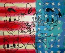 "Steve Kaufman     ""All American Donald and Daisy Duck""  Serigraph     MAKE OFFER"