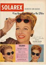 1948 Solarex Sun Glasses featuring Ann Sheridan  PRINT AD