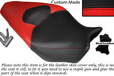 BRIGHT RED AND BLACK CUSTOM FITS HONDA VFR 1200 F 09-13 DUAL LEATHER SEAT COVER