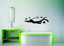 Wall Stickers Vinyl Decal For Bathroom Diving Diver Ocean Marine ig1383