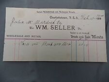 Letterhead Advertising WM Seller Salt Meats PEI Feb 15 1900 Invoice Account