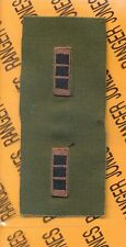 US ARMY CWO III CHIEF WARRANT OFFICER OD Green & Black rank patch set
