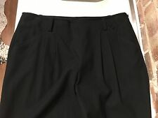 DKNY Trousers in Black USA 8 UK 10 UK 12 S 97% Wool