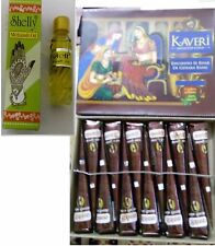 12 Herbal Natural Henna Cones Temporary Tattoo kit Body Art +Mehandi oil free