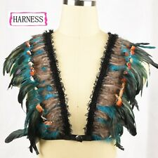 Feather Harness/ crop top/ bikini Festival, Ibiza, Summer!!! Burning Man Must!