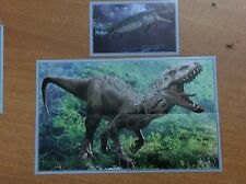 5 FIGURINE ADESIVE  JURASSIC WORLD  DINOSAURO  PANINI  lot 76