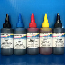 5x100ml PIGMENT/DYE Printer Refill Ink CANON Pixma MG5250 MG6250 MG5350 Non OEM