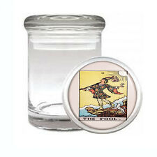 Tarot Card D1 ODORLESS AIR TIGHT MEDICAL GLASS JAR CONTAINER 0 The Fool
