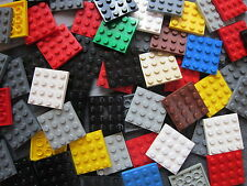 LEGO Bulk Sale - 10 x Mixed Colours 4 pin x 4 pin Flat Plate Building Bricks