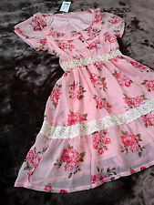 Yumetenbo Elegant rose floral Frills&Lace Fluffy hime&lolita dress Japan SizeL